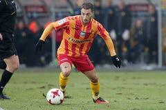 Ποδόσφαιρο: Korona Kielce - Wisla Plock Στοκ φωτογραφία με δικαίωμα ελεύθερης χρήσης