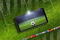 Ποδόσφαιρο on-line Στοκ φωτογραφίες με δικαίωμα ελεύθερης χρήσης