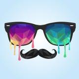 Πολύγωνο γυαλιού, mustache πολύγωνο Στοκ Εικόνες