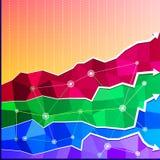 Πολύγωνο διαγραμμάτων γραφικών παραστάσεων επιχειρησιακών διαγραμμάτων Στοκ Εικόνες