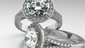 Πολύτιμα δαχτυλίδια διαμαντιών απεικόνιση αποθεμάτων