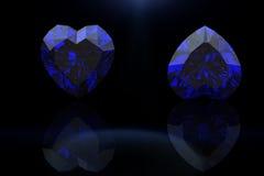 Πολύτιμος λίθος μορφής καρδιών μαρκήσιος κοσμήματος πο sapp Στοκ Εικόνες