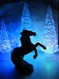 Πολύχρωμα ακρυλικά δέντρα με το ακρυλικό άλογο Στοκ Φωτογραφία