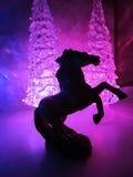 Πολύχρωμα ακρυλικά δέντρα με το ακρυλικό άλογο Στοκ Εικόνα