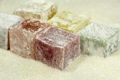 πολύχρωμα ασιατικά γλυκά, καραμέλα, jujube, ζάχαρη, επιδόρπιο Στοκ Φωτογραφία