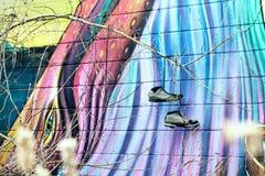 Πολύχρωμα γκράφιτι Στοκ Φωτογραφίες
