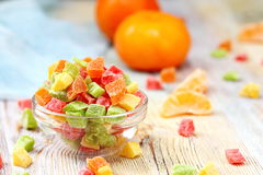 Πολύχρωμα γλασαρισμένα φρούτα στοκ φωτογραφία με δικαίωμα ελεύθερης χρήσης