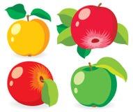 Πολύχρωμα διανυσματικά μήλα Στοκ εικόνα με δικαίωμα ελεύθερης χρήσης