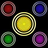 Πολύχρωμα κουμπιά Στοκ Εικόνα