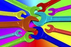 Πολύχρωμα κλειδιά Στοκ εικόνα με δικαίωμα ελεύθερης χρήσης