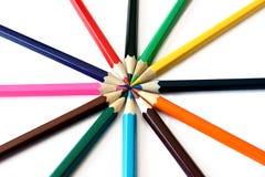 Πολύχρωμα μολύβια Στοκ φωτογραφίες με δικαίωμα ελεύθερης χρήσης