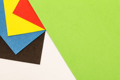 Πολύχρωμα στρώματα φύλλων αφρού Στοκ εικόνες με δικαίωμα ελεύθερης χρήσης