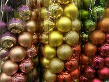 Διακοσμητικές σφαίρες Χριστουγέννων Στοκ φωτογραφία με δικαίωμα ελεύθερης χρήσης