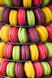 Πολύχρωμα macaroons για τα gourmets Στοκ Εικόνα