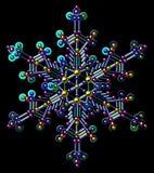 Πολύχρωμα Snowflakes τσεκιών Διανυσματική τέχνη συνδετήρων Μαύρη ανασκόπηση Στοκ φωτογραφία με δικαίωμα ελεύθερης χρήσης