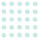 Πολύχρωμα snowflakes Στοκ Εικόνες