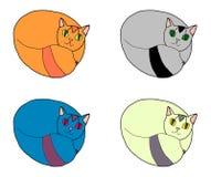 Πολύχρωμες γάτες στοκ εικόνες με δικαίωμα ελεύθερης χρήσης