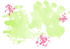 9 πολύχρωμες εικόνες διάθεσης που τίθενται τις τουλίπες άνοιξη θαυμάσιες Διανυσματικές ζωηρόχρωμες σταγόνες Watercolor Στοκ εικόνα με δικαίωμα ελεύθερης χρήσης