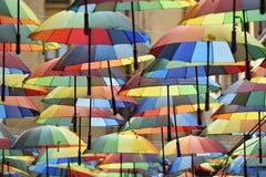 πολύχρωμες ομπρέλες στοκ φωτογραφία