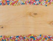 Πολύχρωμες στρογγυλές καραμέλες ζάχαρης Στοκ Φωτογραφία