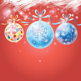 Πολύχρωμες σφαίρες Χριστουγέννων διακοπών Στοκ φωτογραφίες με δικαίωμα ελεύθερης χρήσης