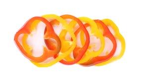 Πολύχρωμες φέτες των πιπεριών Στοκ Εικόνα