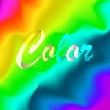 Πολύχρωμη ανασκόπηση Αγαθό για το έμβλημα, αφίσα, φυλλάδιο Χρώματα φάσματος Στοκ Φωτογραφίες