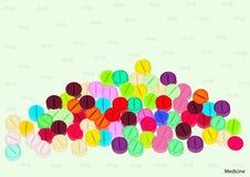 Πολύχρωμη εγγραφή φαρμάκων στο υπόβαθρο Στοκ Φωτογραφίες
