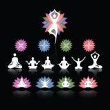 Πολύχρωμη μορφή λουλουδιών λογότυπων Lotus Στοκ Εικόνες