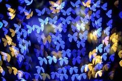 Πολύχρωμη μορφή πεταλούδων bokeh Στοκ Εικόνα