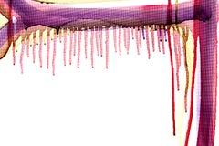 Πολύχρωμη ροή του χρώματος σε ένα άσπρο υπόβαθρο Στοκ Εικόνες