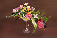 Πολύχρωμη floral ρύθμιση Στοκ Εικόνες