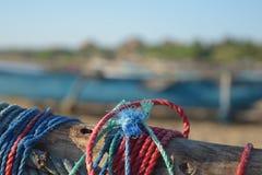Πολύχρωμοι κόμβοι πανιών ενός oruwa Στοκ Εικόνες
