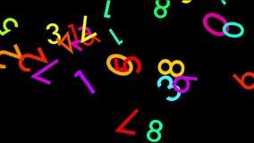 Πολύχρωμοι ψηφιακοί αριθμοί φιλμ μικρού μήκους