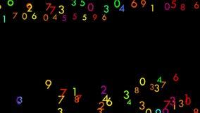 Πολύχρωμοι ψηφιακοί αριθμοί απόθεμα βίντεο