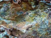 Πολύχρωμος βράχος Στοκ Φωτογραφία