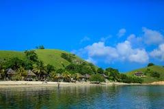 Μπανγκαλόου στο νησί Seraya Στοκ εικόνα με δικαίωμα ελεύθερης χρήσης