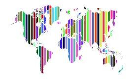 Πολύχρωμος παγκόσμιος χάρτης λωρίδων Στοκ Εικόνες