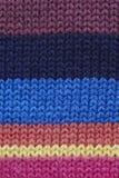 Πολύχρωμος πλεκτός fabrick Στοκ φωτογραφία με δικαίωμα ελεύθερης χρήσης