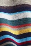 Πολύχρωμος πλεκτός fabrick Στοκ εικόνα με δικαίωμα ελεύθερης χρήσης