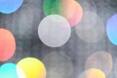 Πολύχρωμος το θολωμένο αφηρημένο υπόβαθρο φω'των bokeh, για τη χρήση στο γραφικό υλικό σχεδίου ή υποβάθρου Στοκ Φωτογραφίες