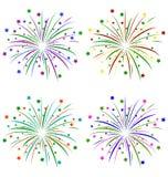 Πολύχρωμος χαιρετισμός με τα αστέρια στο λευκό ελεύθερη απεικόνιση δικαιώματος