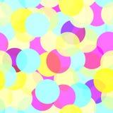 Πολύχρωμο άνευ ραφής διανυσματικό σχέδιο κύκλων Στοκ Εικόνες