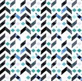 Πολύχρωμο άνευ ραφής σχέδιο ύφους σιριτιών Σύσταση βελών Στοκ Εικόνες