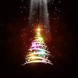 Πολύχρωμο δέντρο δέντρων Χριστουγέννων Στοκ φωτογραφία με δικαίωμα ελεύθερης χρήσης