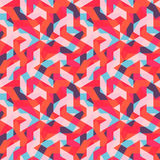 Πολύχρωμο αφηρημένο άνευ ραφής σχέδιο της Μέμφιδας Σύγχρονος γεωμετρικός στο ύφος hipster Στοκ Εικόνα