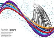 Πολύχρωμο αφηρημένο υπόβαθρο κυμάτων με τα σπειροειδή σχέδια ελεύθερη απεικόνιση δικαιώματος