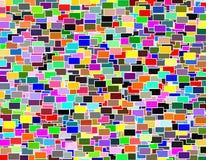 Πολύχρωμο γεωμετρικό σχέδιο μωσαϊκών ορθογωνίων Στοκ Φωτογραφία