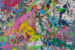 Πολύχρωμο λεκιασμένο πεζοδρόμιο χρώματος Υπόβαθρο Στοκ Εικόνες