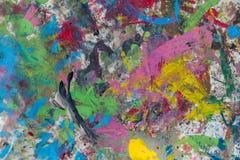 Πολύχρωμο λεκιασμένο πεζοδρόμιο χρώματος Υπόβαθρο Στοκ Φωτογραφία